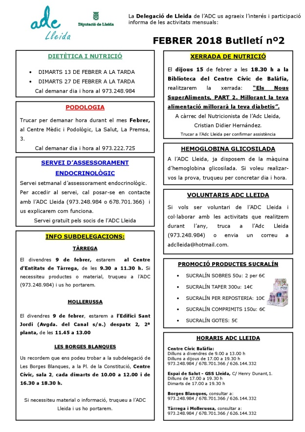BUTLLETÍ FEBRER 2018-001